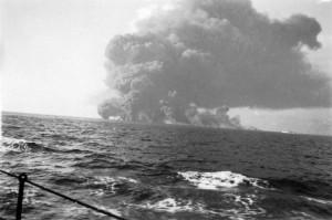 ships burning