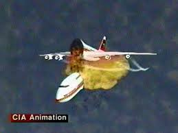 airplane exploding